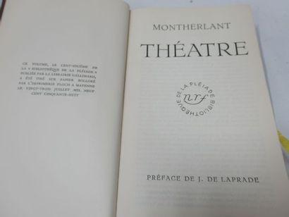 """LA PLEIADE, MONTHERLANT """"Théâtre"""", 1958"""