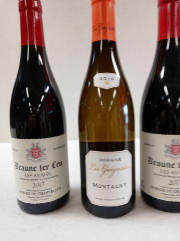 Lot de 3 bouteilles : 1 Montagny Blanc. 2016....