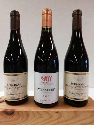 Lot de 3 bouteilles : 1 Pommard. 2017. Domaine...