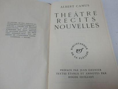 """LA PLEIADE, Albert CAMUS, """"Théâtre, récits, nouvelles"""",1963"""