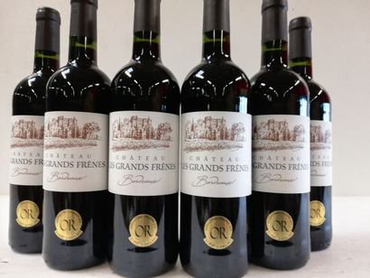 6 bouteilles de Château les Grands Frênes...