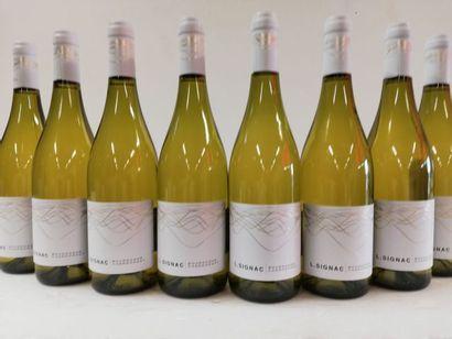 8 bouteilles de Bourgogne Blanc.2017. Chardonnay....