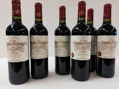 6 bouteilles de Fronsac. La Fontaine de la...