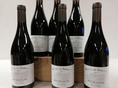 6 bouteilles de Bourgogne. Pinot Noir. 2017....