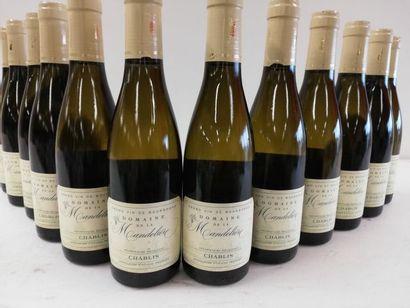 12 demi-bouteilles (37,5 cl) de Chablis 2015....