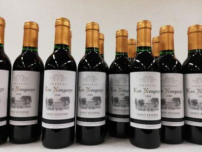 12 demi-bouteilles (37,5cl) de Saint-Estèphe....