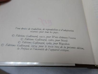 """LA PLEIADE, Céline, """"Romans"""", tome 2, 1974"""