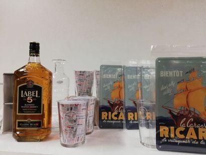 Lot comprenant :  1 Whisky. 100cl. Label...