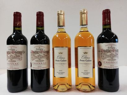Lot de 5 bouteilles : 2 Sauternes Château...