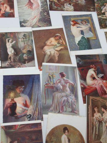 Petit lot de cartes postales semi-modernes.