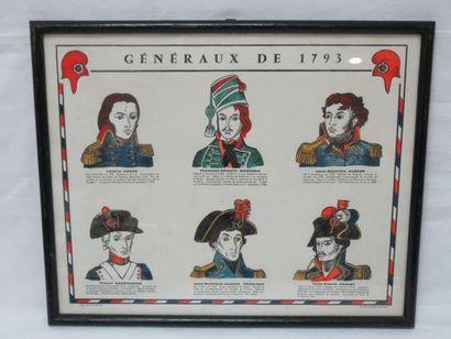 D'après Jean Bruneau, pochoir figurant les...