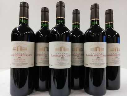 6 bouteilles de Château Lagrave-Cissan. 2013....