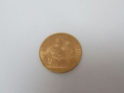 Pièce de 20 francs or, Coq, 1913. Poids :...
