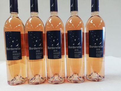 5 bouteilles de Bordeaux. Rosé. 2018. Le...