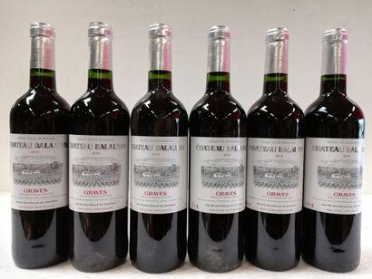 6 bouteilles de Graves. 2018. Château Balaurin....
