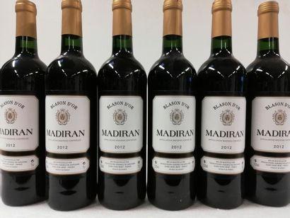 6 bouteilles de Madiran. 2012. Vignobles...