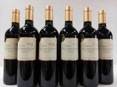 6 bouteilles de Côtes de Bourg. 2016. Château...