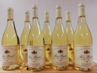 7 bouteilles de Côtes du Rhone. Blanc. 2017....