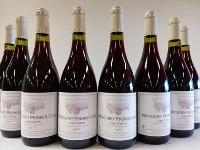 8 bouteilles de Mercurey 1er Cru. Les Crêts....