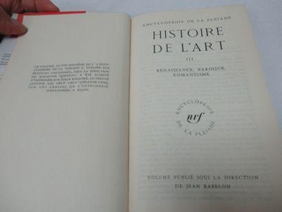 "Encyclopédie de LA PLEIADE, ""Histoire de l'Art"", tome 3, 1965"