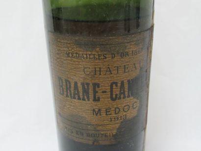 Bouteille de Médoc, Brane Cantenac, 1913....