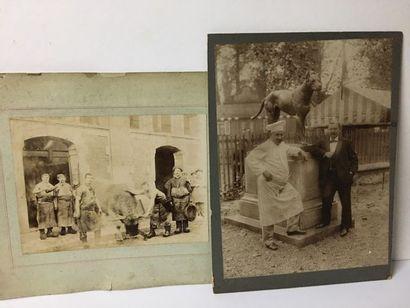 Paire de photographies du XIXème sur papier...