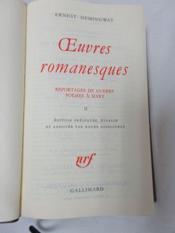 "LA PLEIADE, Hemingway ""Œuvres romanesques"", tome 2, 1996"