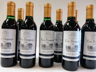 8 bouteilles de Saint-Estèphe. 2008. 37,5cl....