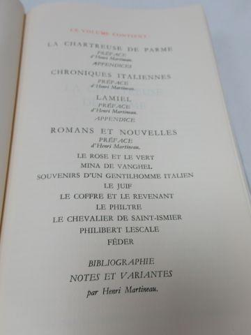 """LA PLEIADE, STENDHAL """"Romans et nouvelles"""", tome 2, 1977"""