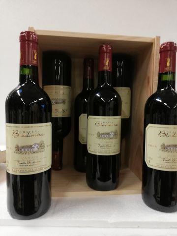 6 bouteilles de Bouteilles 2018. Château...