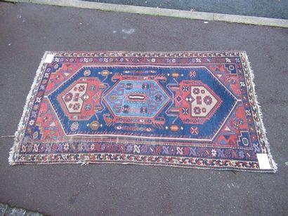 IRAN Ancien tapis Melayer, à décor géométrique...