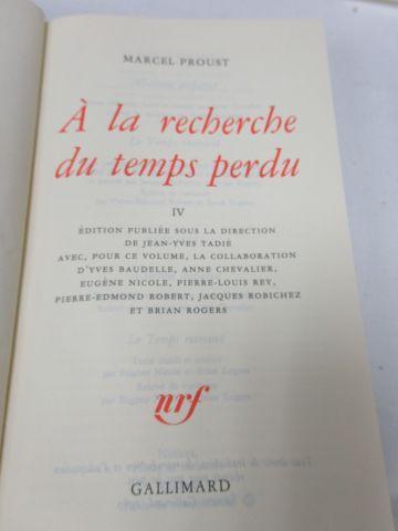 """LA PLEIADE, PROUST """"A la recherche du Temps perdu"""", tome 1, 2000"""
