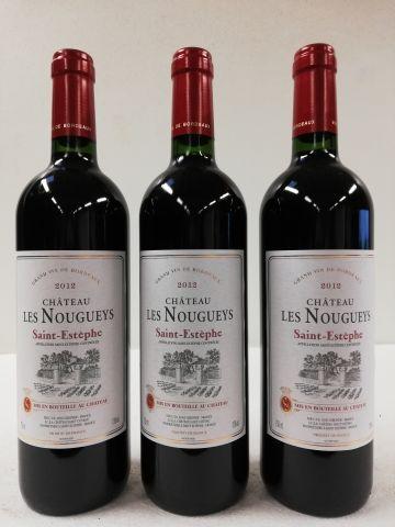 3 bouteilles de Saint Estèphe. 2012. Château...