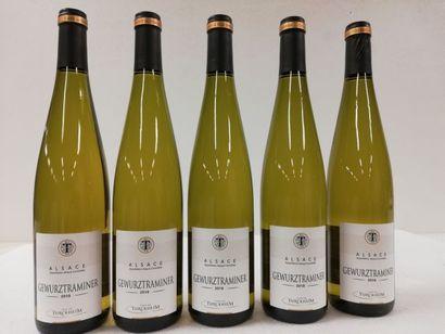 5 bouteilles de Alsace. Gewurztraminer. 2018....