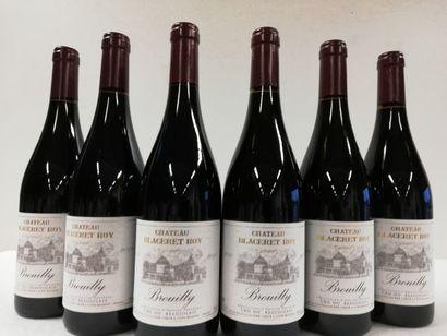 6 bouteilles de Château Blaceret Roy. 2018....