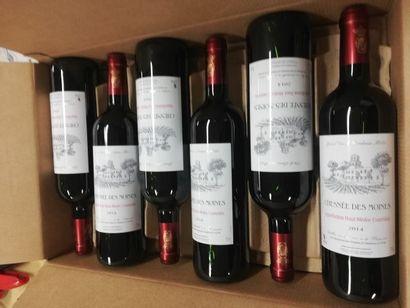 6 bouteilles de Chesnée des Moines. Haut...
