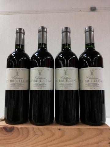 4 bouteilles de Pessac Léognan. 2013. Château...