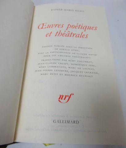"""LA PLEIADE, Rilke, """"Œuvres poétiques et théâtrales"""", 1997"""