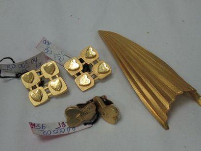 L'ARMADA Lot en métal doré, comprenant 3...