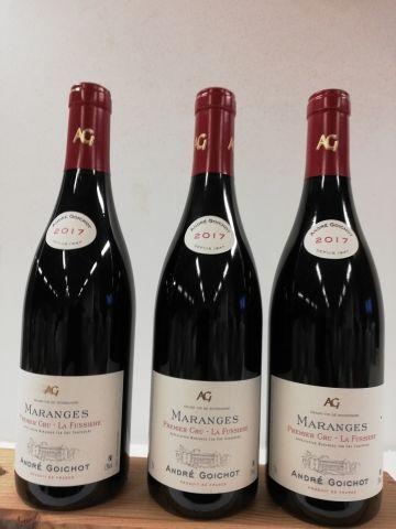 3 bouteilles de Maranges 1er Cru. La Fussière....