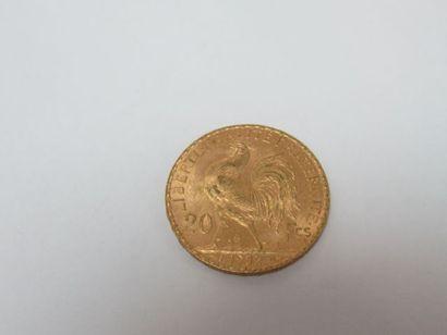 Pièce de 20 francs or, Coq, 1902. Poids :...
