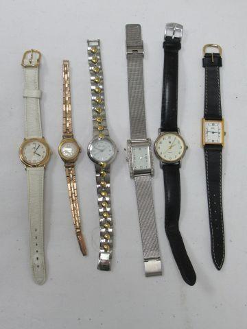 Lot de montres pour dame en acier et métal...