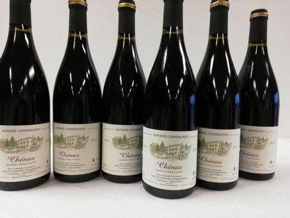6 bouteilles de Chénas. Domaine Champagnan....