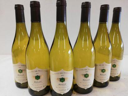 6 bouteilles de Rully. Blanc. Bourgogne 2017....