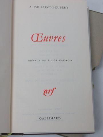 """LA PLEIADE, Antoine de Saint Exupéry, """"Œuvres"""", 1982."""