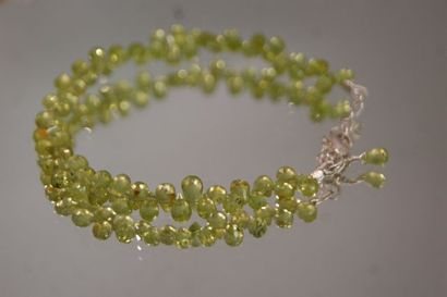 Ensemble d'un collier et d'un bracelet ornés...