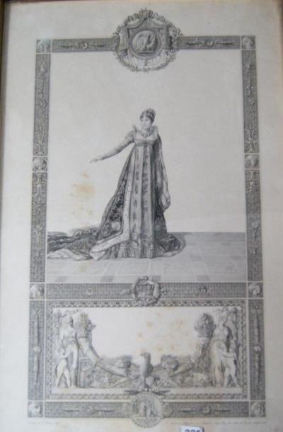 D'après Isabey (par P. Audouin), Napoléon...