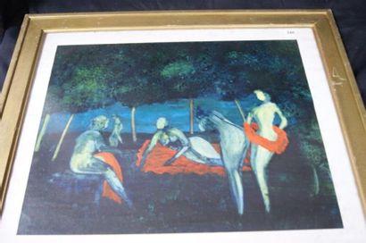 G Di Gregorio, Baigneuse, huile sur papier,...