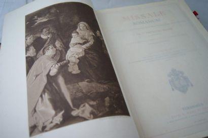 Missel romain, Mame et Fils, Tours, 1912...