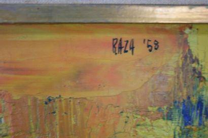 RAZA Syed Haider (1922) RAZA Syed Haider (1922). Composition abstraite en rouge,...